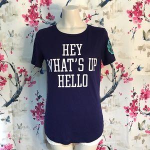 Pink Victoria's Secret  Hello T-Shirt Size S